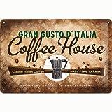 Nostalgic-Art 22185 Coffee und Chocolate House Blechschild, 20 x 30 cm