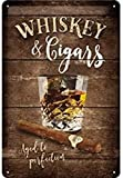 Nostalgic-Art Retro Blechschild, Open Bar – Whiskey – Geschenk-Idee für Spirituosen-Fans, aus...