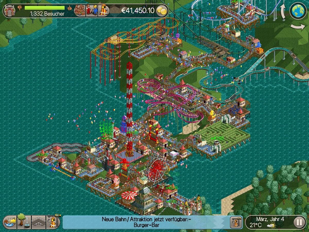 Das Aufbauen von Freizeitparks macht auch nach fast 20 Jahren genau so viel Spaß wie früher